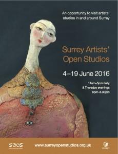 SURREY OPEN STUDIO JUNE16 front cover flyer