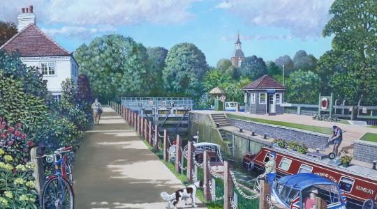 The Thames at Sunbury Lock.